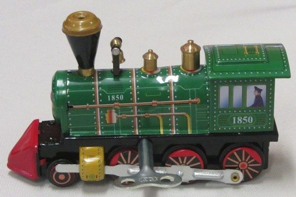 Train - Green Locomotive, length 12cm