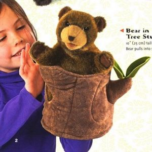 Folkmanis Puppet – Bear in a Tree Stump