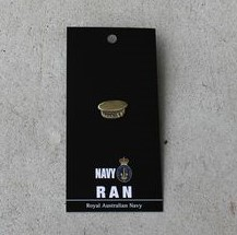 Badge – Navy Cap Brass
