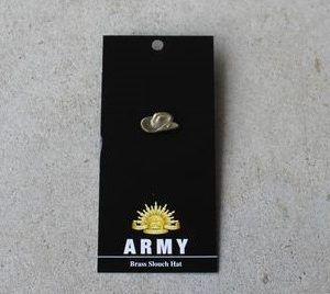 Badge – Army Slouch Hat Brass