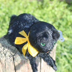 Wind Up Black Cat - Vintage has key.  Working order.