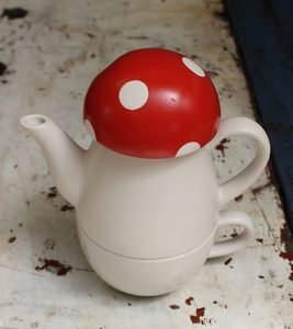 Toadstool Tea For One Set