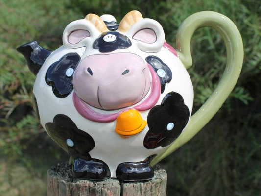 Cow with Bell Teapot