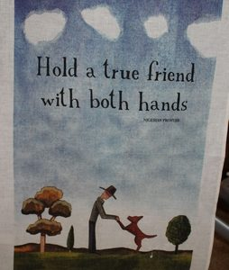 Teatowel – Hold a True Friend