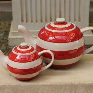 Cornishware Round 'Betty' Teapot – Small One Cup – Red