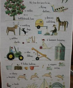 Australian Twelve Days of Christmas Teatowel