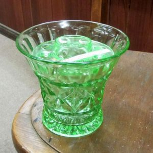Depression Green Glass Vase