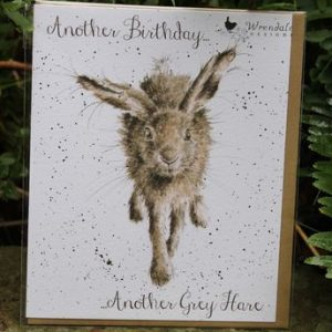 Another Birthday, Another Grey Hare – Greeting Card