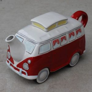 Teapot – Retro Red Combi Van