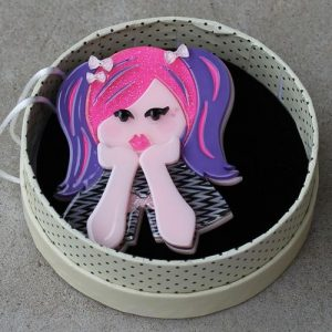 Erstwilder Brooch – Bubblegum Pop Princess