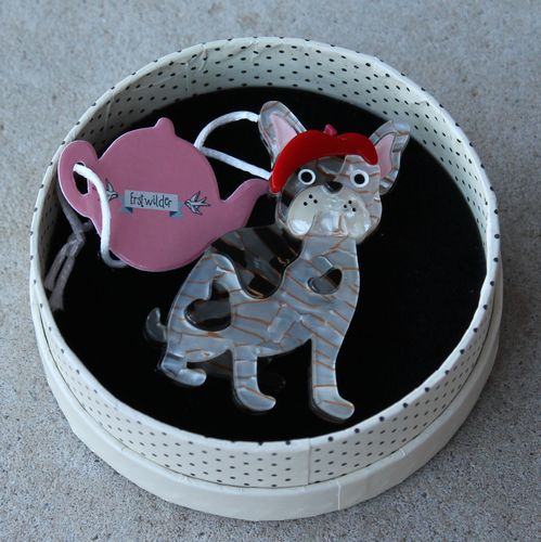 Erstwilder Brooch - Claude the Chic (French Bull Dog)