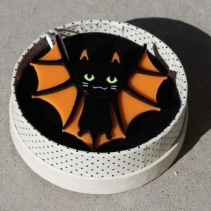 Erstwilder Brooch – Bat Cat