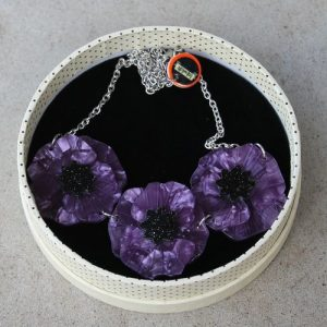 Erstwilder Necklace – Poppy Field – Purple