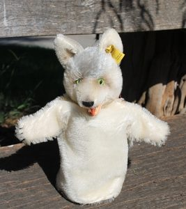 Steiff Loopy Wolf Hand Puppet 17cm – vintage