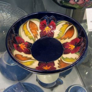 Moorcroft - 'The Dames' Pansy Dish