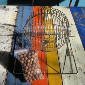 Bingo Cage and Wooden Numbers