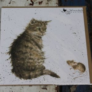 Cat & Mouse Greeting Card