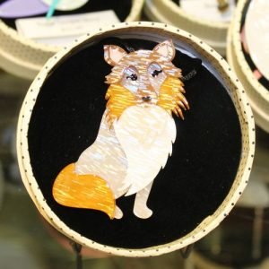 Erstwilder Brooch – Precocious Pixie (Dog) with tiny resin flaws