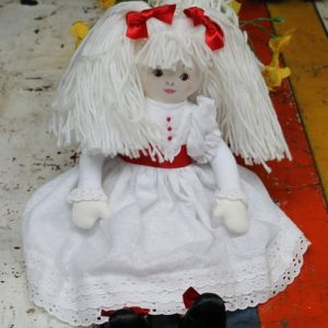 Cloth Rag Doll – Elizabeth with red sash