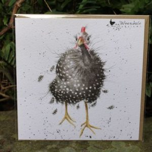 Queen of the Catwalk – Greeting Card – Guinea Fowl
