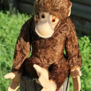 Monkey Chimpanzee – Hermann Red vintage 40cm.
