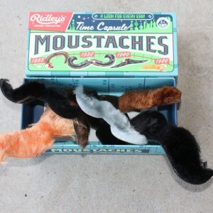Moustaches in a box