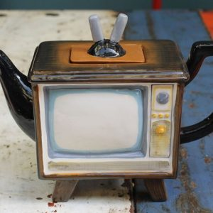 Retro TV Teapot