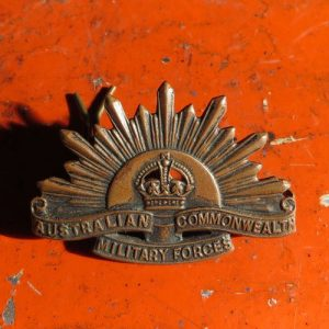 Australian Rising Sun Collar Badge – WWI