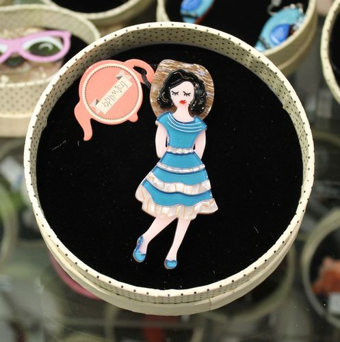 Erstwilder Brooch - Rockabilly Queen