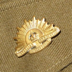 Australian Military Rising Sun Collar Badge