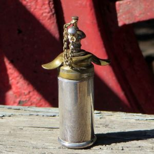 Perfume Bottle – Brass & Silver Plate