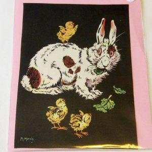 Book Plate – Rabbit & Chickens