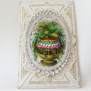 Scrap Greeting Card - Garden/Lady