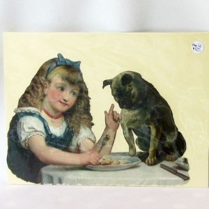 Scrap – Girl Feeding a Pug Dog