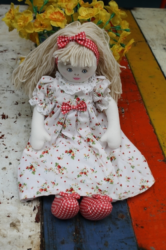 Cloth Rag Doll - Stephanie