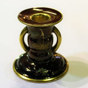 morpeth antique centre hunter valley carlton ware rouge royal candlestick holder grape ivy leaf