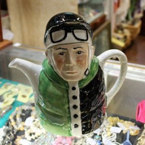 morpeth antique centre hunter valley tony wood ceramic novelty teapot jockey porcelain england