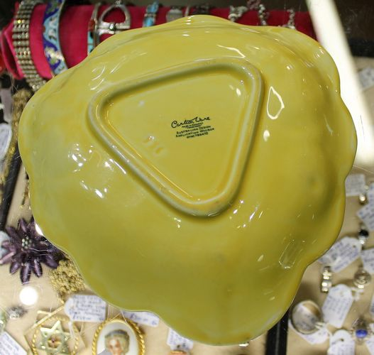 morpeth antique centre hunter valley carltonware plate dish yellow anemone fruit bowl 1934 australian design