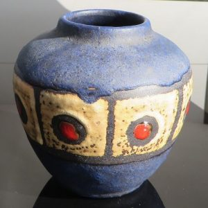 West German Pottery Squat Ruscha Vase