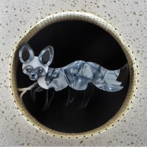 Erstwilder Brooch – Bat-Earred Bestie (Fox)