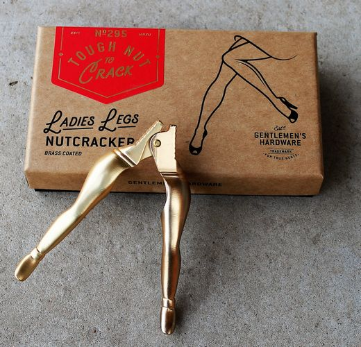 morpeth gift gallery gentleman's hardware ladies legs nutcracker brass tough nut crack