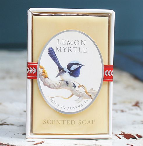 morpeth gift gallery lemon myrtle scented soap jeremy boot artist blue wren australian native bird