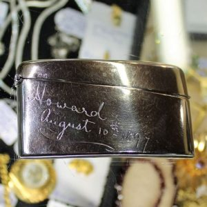 morpeth antique centre hunter valley silver hallmarked calling card holder business greeting