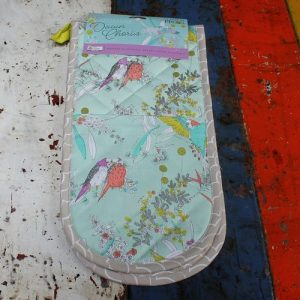 morpeth gift gallery hunter valley dawn chorus australian native budgerigar budgie parrot organic textile double oven mitt