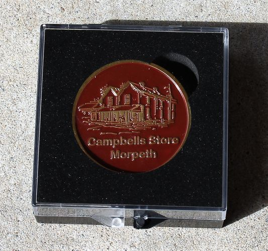 morpeth gift gallery campbell's store gift voucher token certificate medallion fifty dollars
