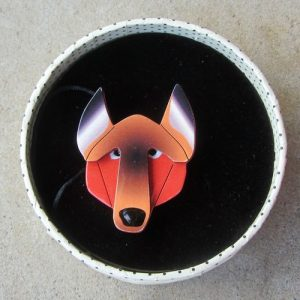 Erstwilder Brooch – Fox/Wolf Face