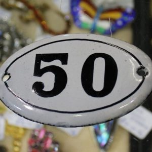 Enamelled Number 50