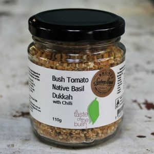 Dukkah with Bush Tomato, Basil & Chilli