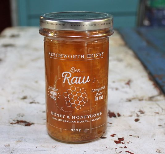 morpeth gourmet foods hunter valley gift 100% pure honey beechworth bee cause raw straight line chunk honeycomb section comb