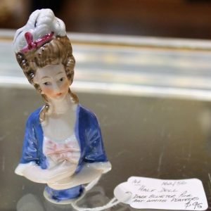 morpeth antique centre hunter valley half doll pin cushion german japan japanese made ceramic hand painted vintage porcelain pottery